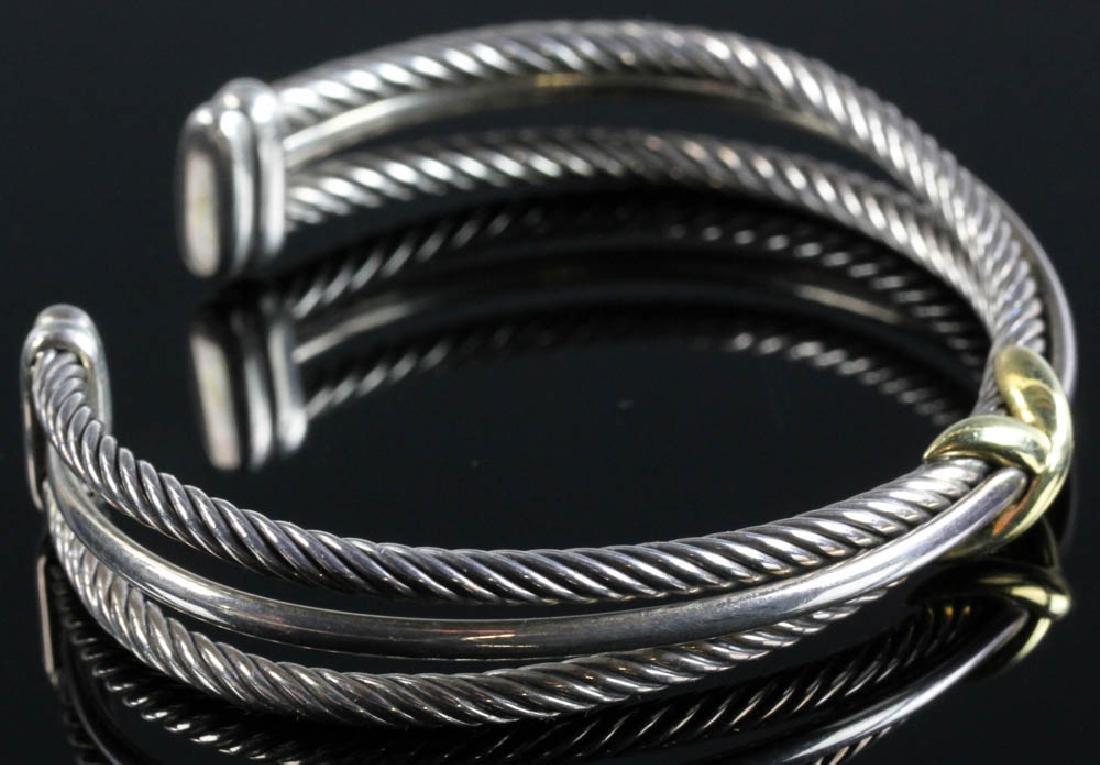 David Yurman Sterling and 18k Cuff Bracelet - 2