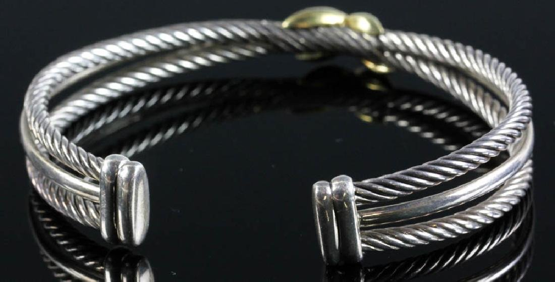 David Yurman Sterling and 18k Cuff Bracelet - 3