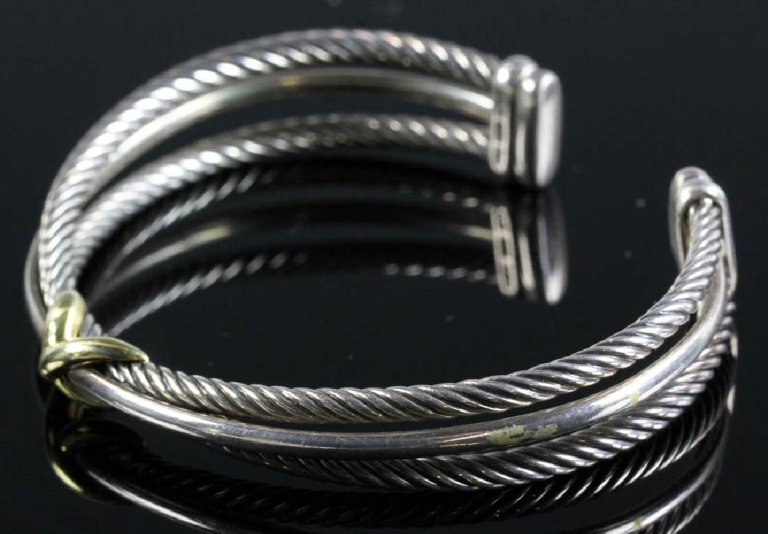 David Yurman Sterling and 18k Cuff Bracelet - 4