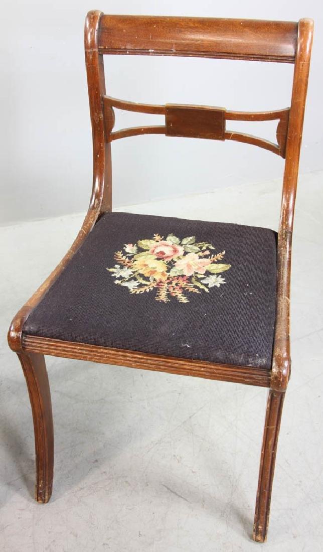 Four Mahogany Chairs, Needlepoint Seats - 7