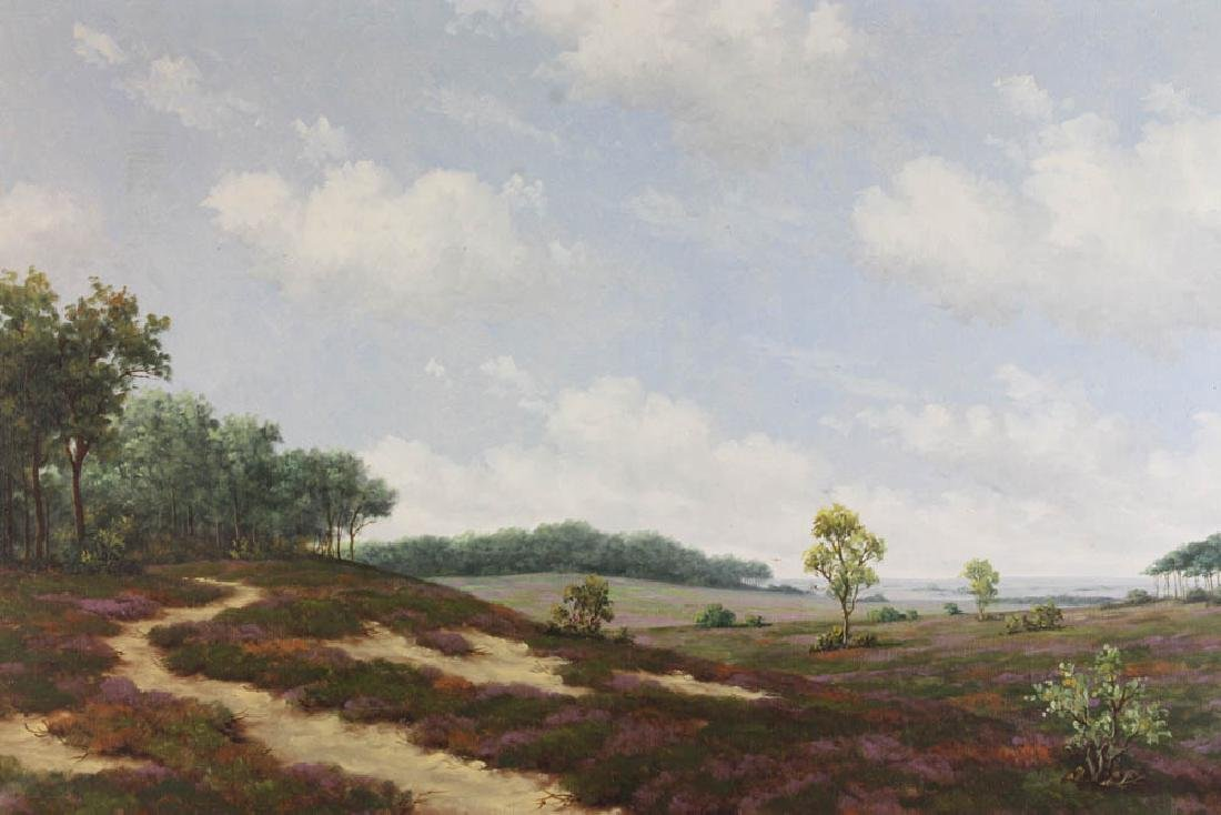Late 19th/Early 20th C Oil on Canvas Landscape - 2
