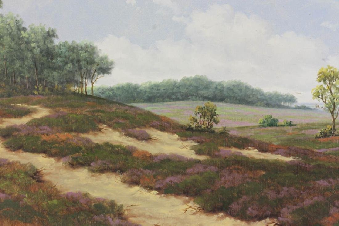 Late 19th/Early 20th C Oil on Canvas Landscape - 5