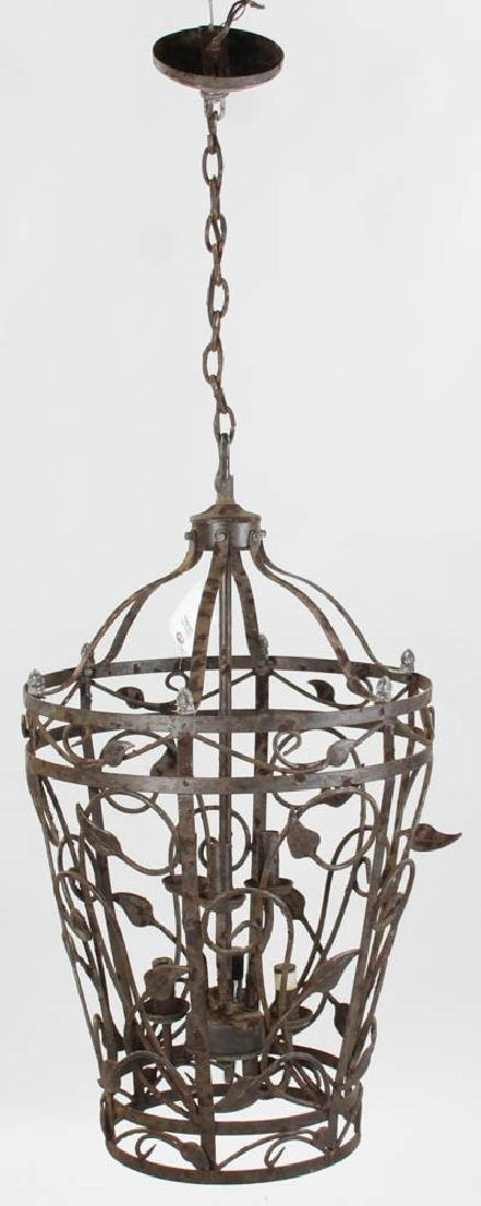Fancy Wrought Iron Hanging Chandelier
