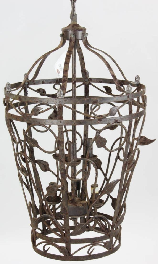 Fancy Wrought Iron Hanging Chandelier - 2