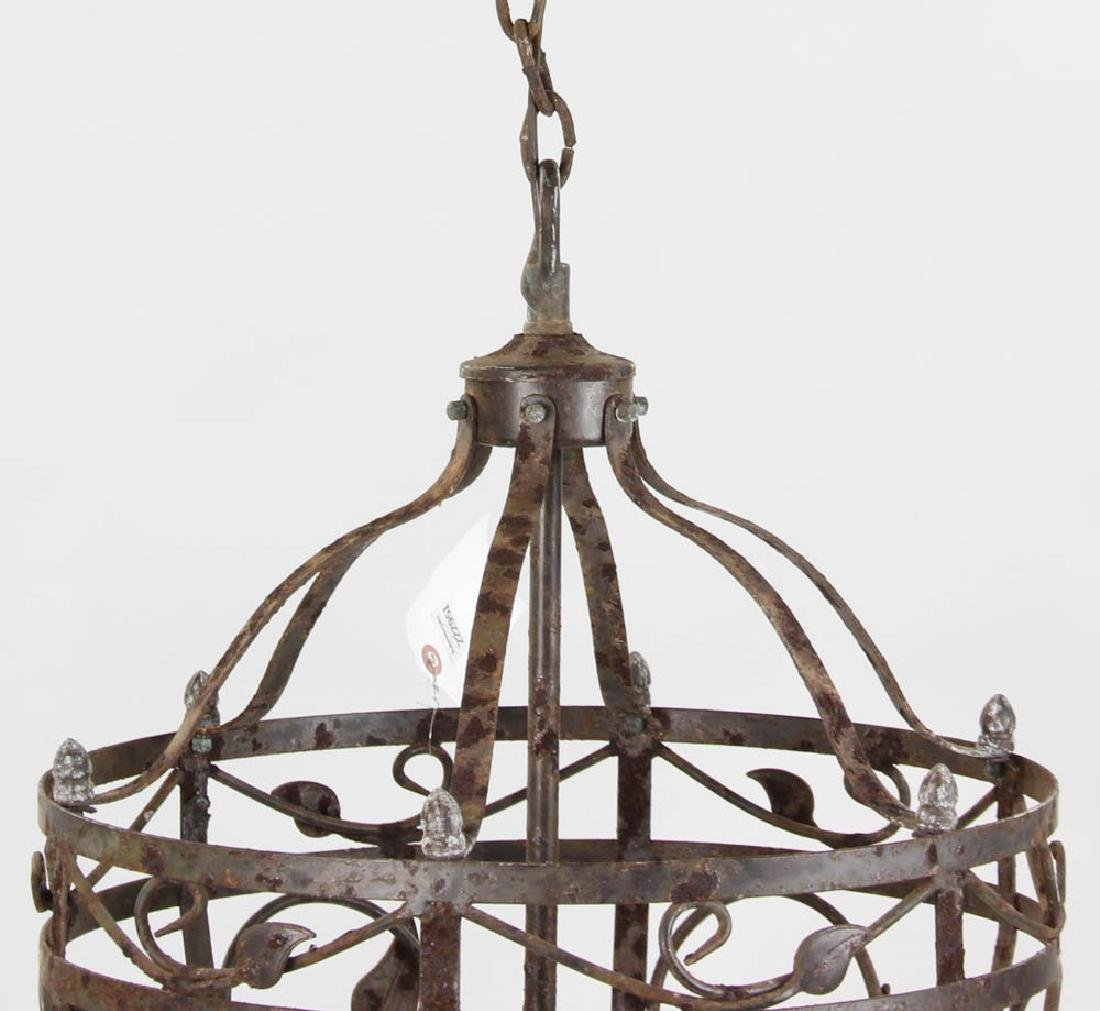 Fancy Wrought Iron Hanging Chandelier - 3