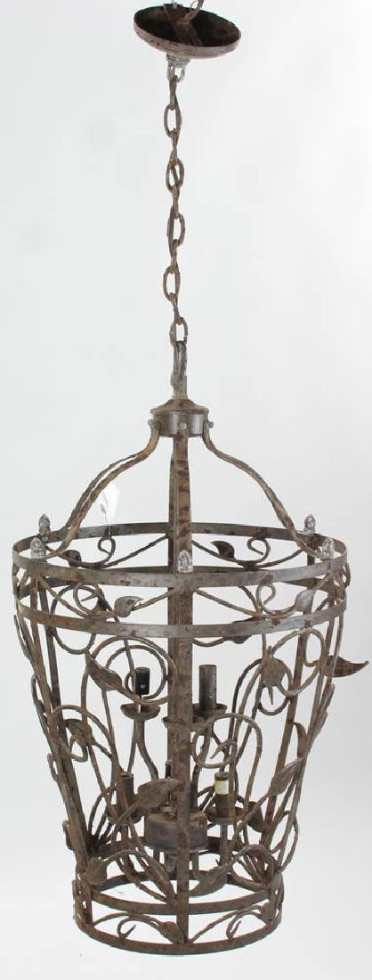 Fancy Wrought Iron Hanging Chandelier - 4