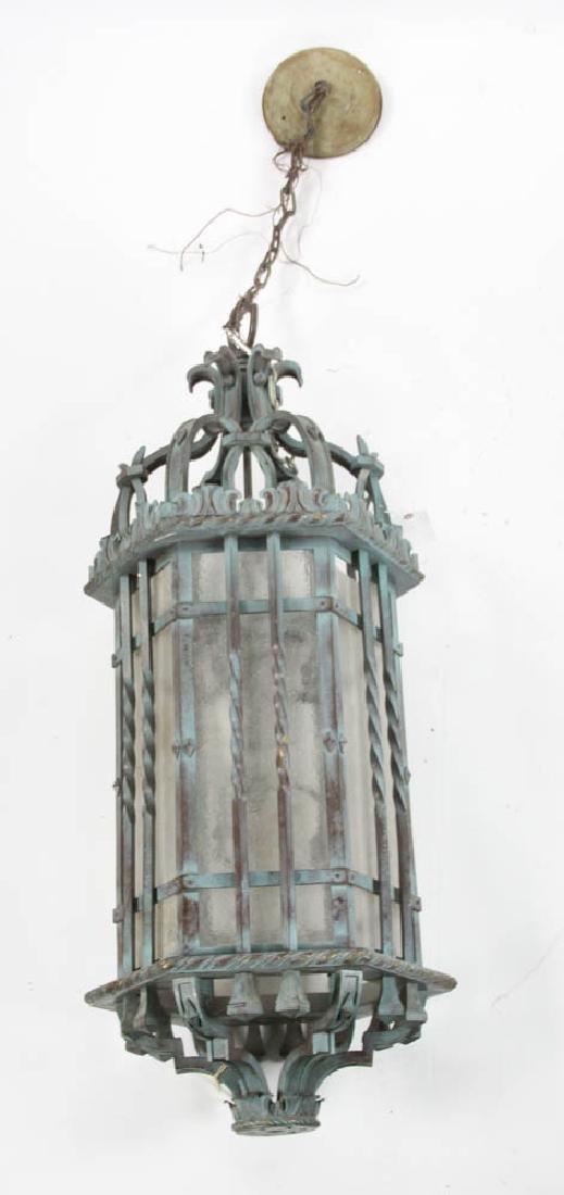 Antique Iron Hanging Light Fixture