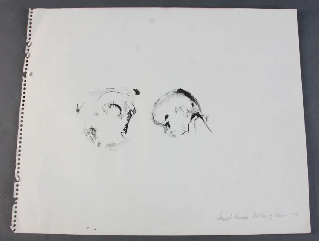 Four Leonard Baskin Personalized Drawings - 2