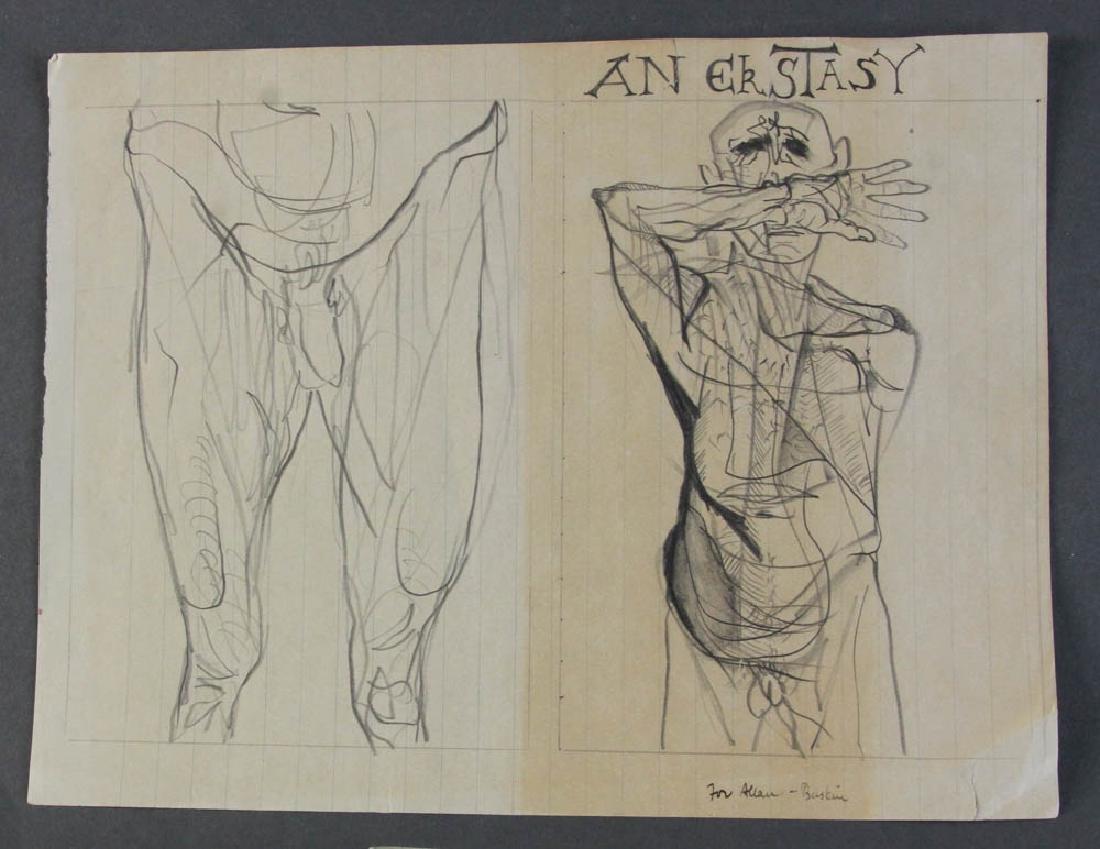 Four Leonard Baskin Personalized Drawings - 3