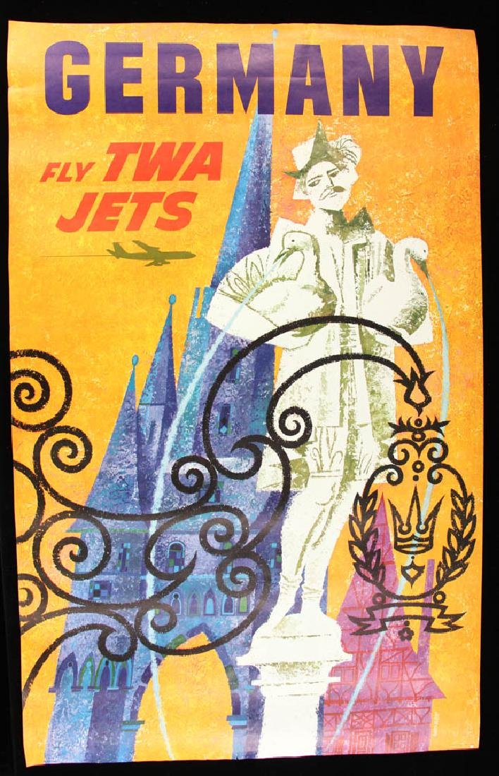 Collection of 11 TWA Travel PostersTravel Posters - 3