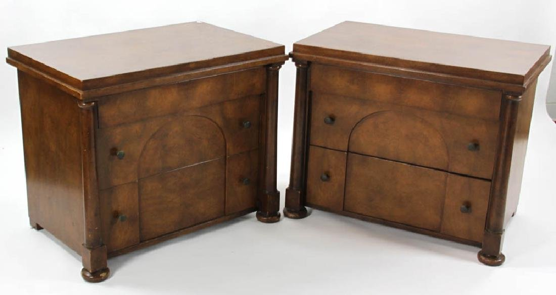 Pair of Biedermeier Style 2-Drawer Chests
