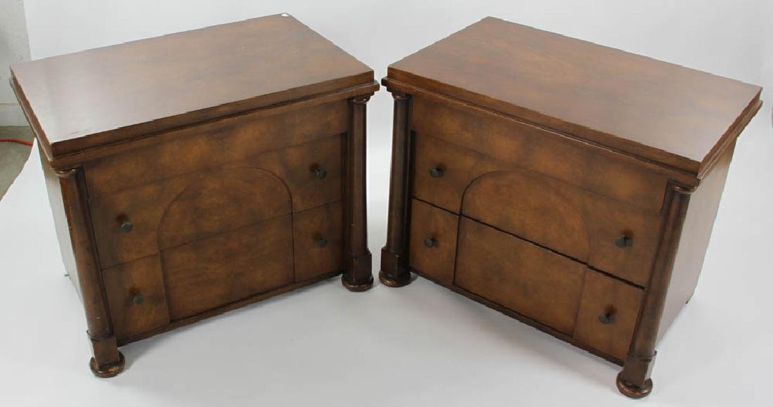 Pair of Biedermeier Style 2-Drawer Chests - 2