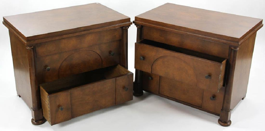 Pair of Biedermeier Style 2-Drawer Chests - 3