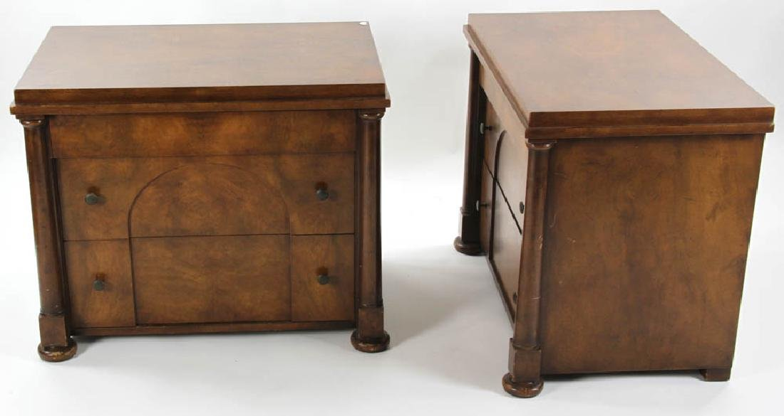 Pair of Biedermeier Style 2-Drawer Chests - 4