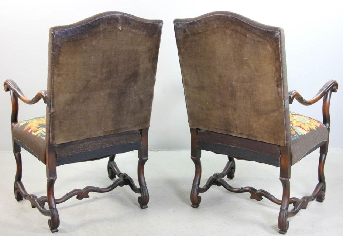 Pair of French Turkeywork Arm Chairs - 2