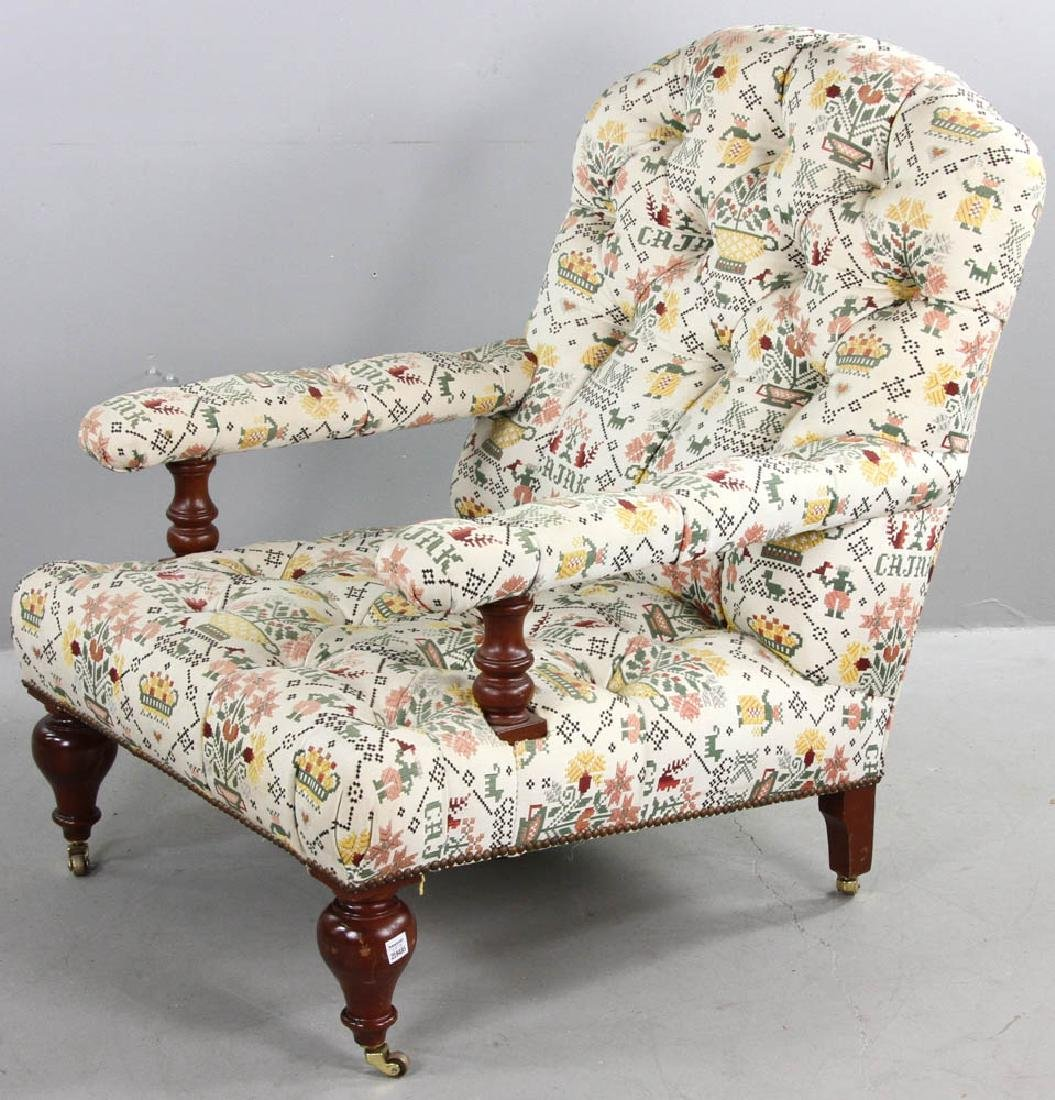 Upholstered Tufted Back Armchair - 3
