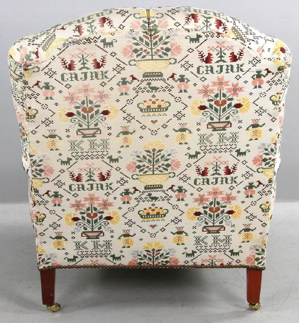 Upholstered Tufted Back Armchair - 4