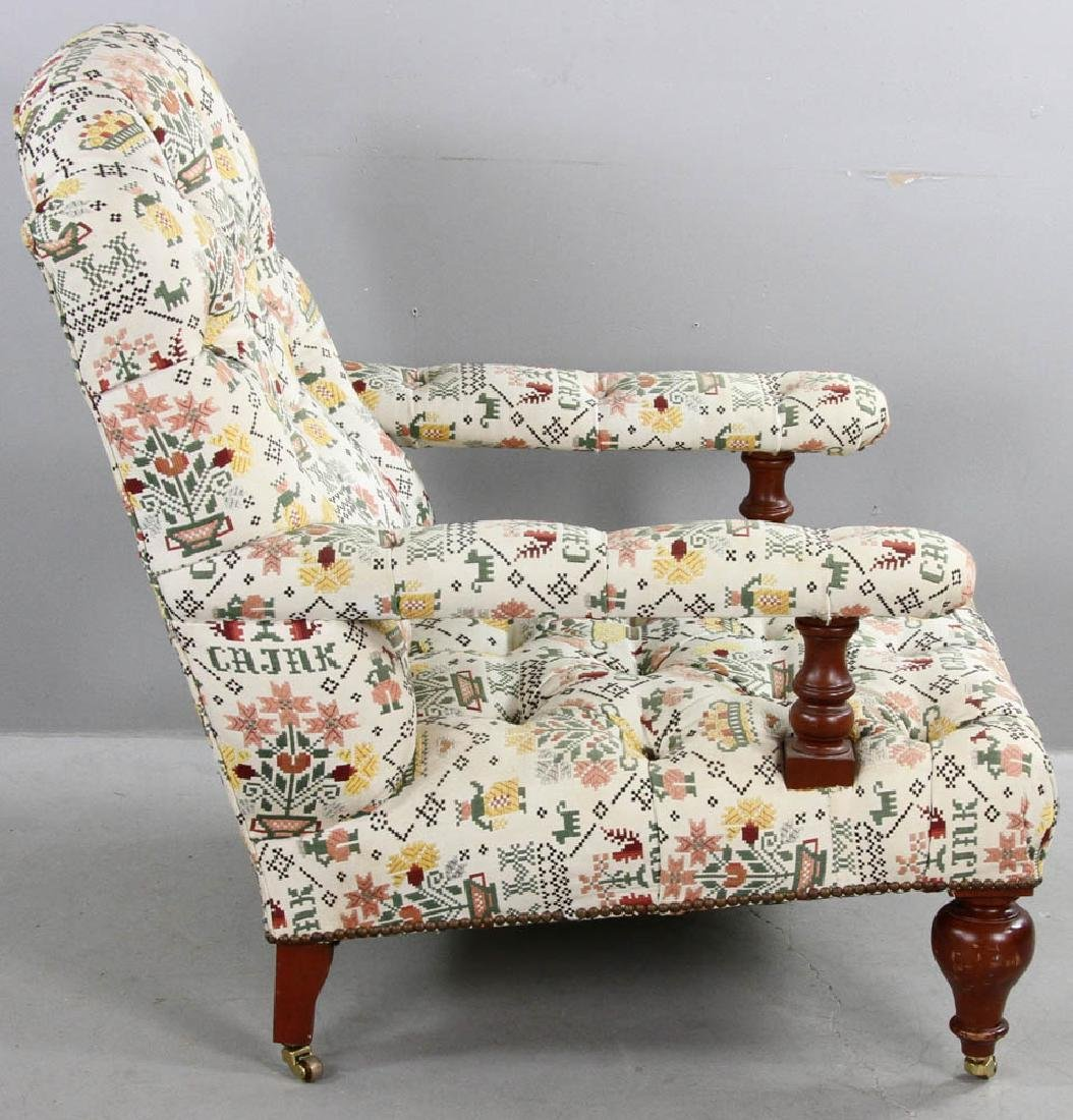 Upholstered Tufted Back Armchair - 5