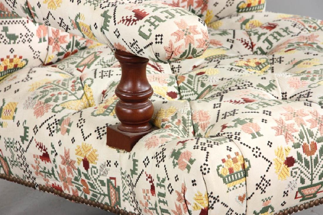 Upholstered Tufted Back Armchair - 6