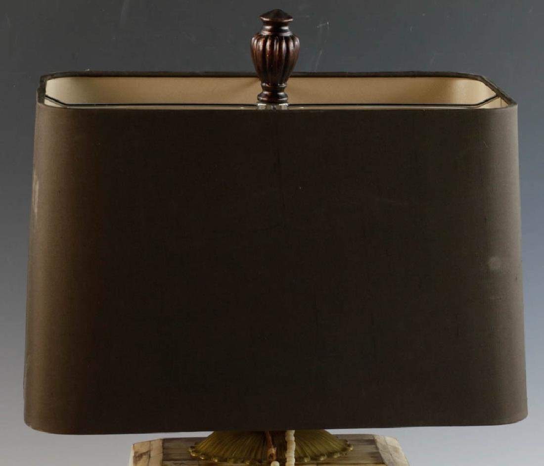 Tooled Copper Lamp and Pair of Table Lamps - 2