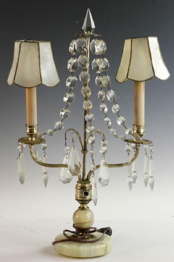 Tooled Copper Lamp and Pair of Table Lamps - 5