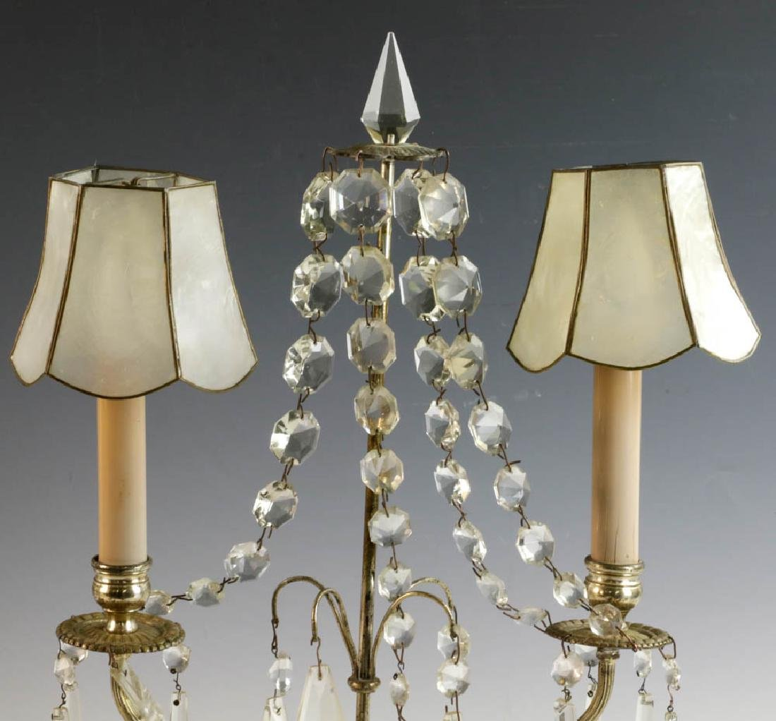 Tooled Copper Lamp and Pair of Table Lamps - 7