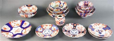 19/20thC Japanese Imari Porcelain Group