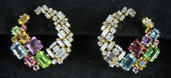 Canturi 18k Diamond and Gemstone Earrings