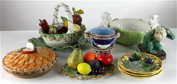 Collection of Contemporary Majolica Pieces