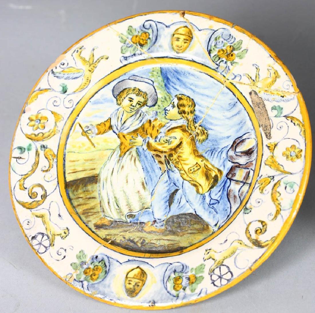 18th/19th Century Italian Glazed Charger - 2