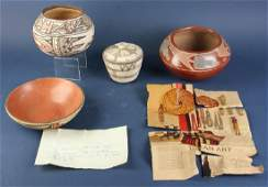 Four Pieces of Southwestern Pottery