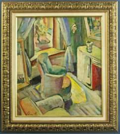Rene Auberjonois, Modern Interior, Oil on Canvas