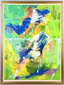Leroy Neiman Signed Print Tennis Player