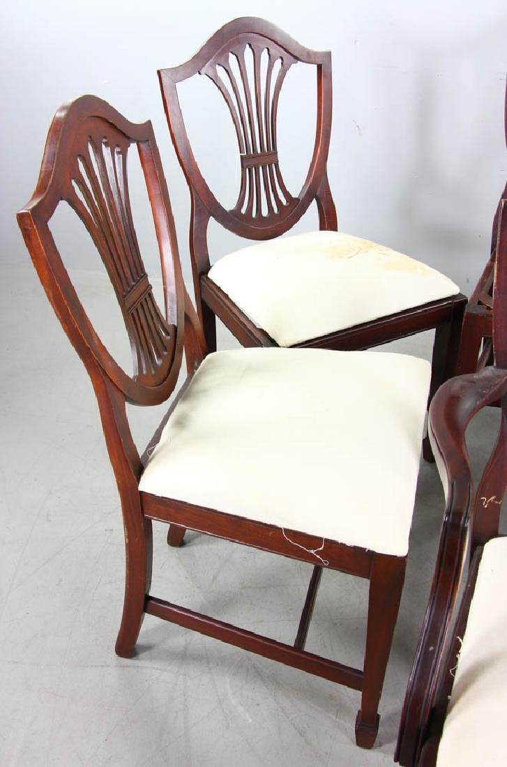 Set of Mahogany Shield Back Dining Chairs - 2