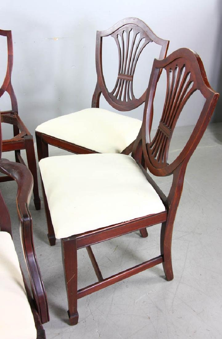 Set of Mahogany Shield Back Dining Chairs - 3