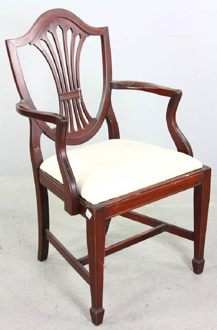 Set of Mahogany Shield Back Dining Chairs - 5