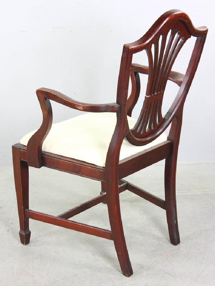 Set of Mahogany Shield Back Dining Chairs - 6