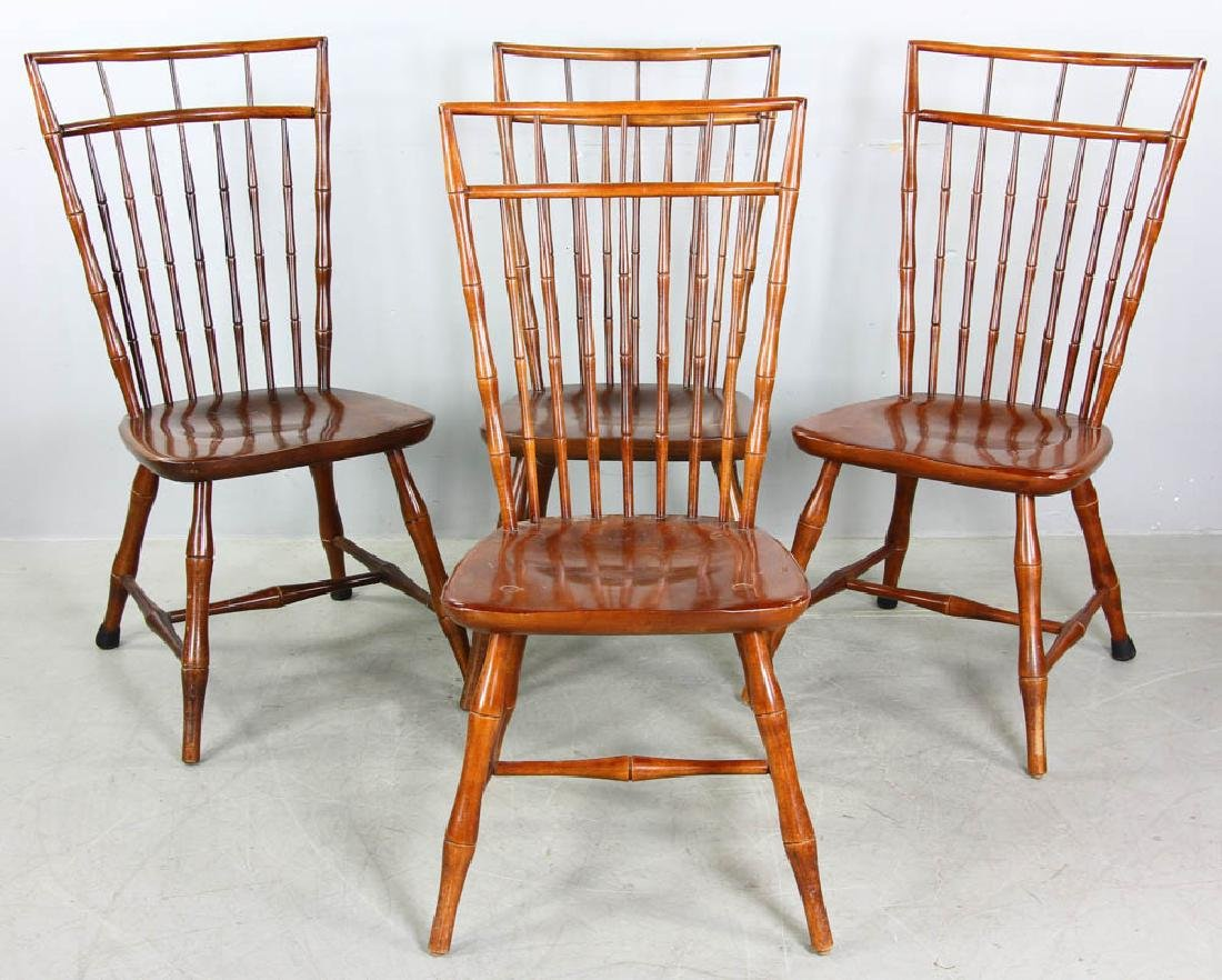Set of Maple Spindle Back Chairs