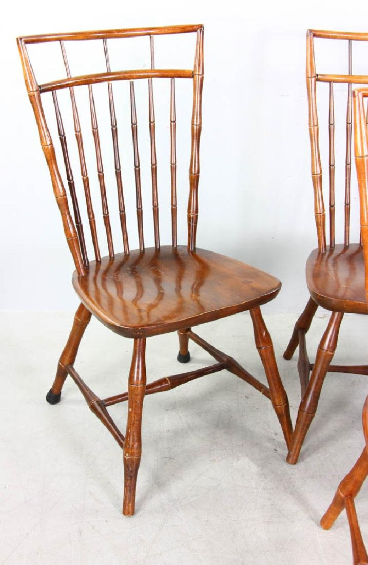Set of Maple Spindle Back Chairs - 2