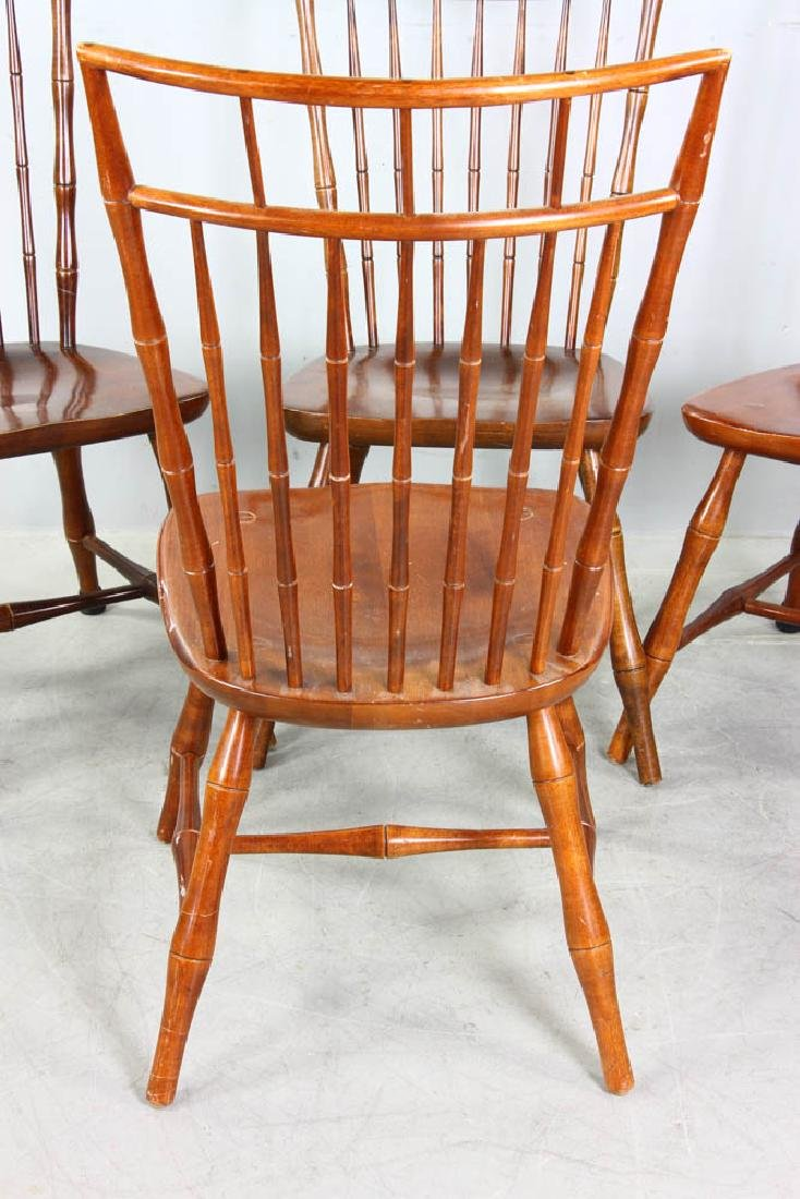 Set of Maple Spindle Back Chairs - 4