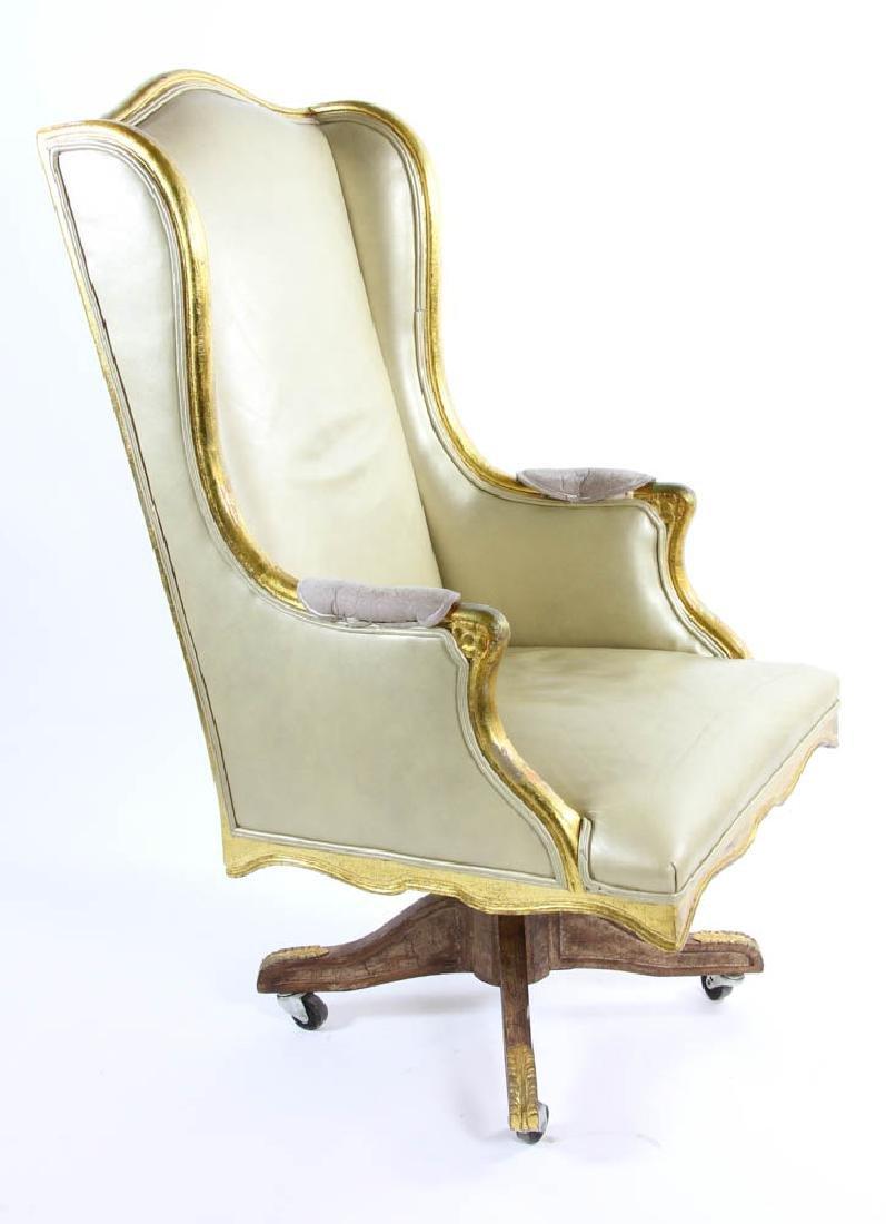 Fancy Leather Swivel Desk Chair - 2