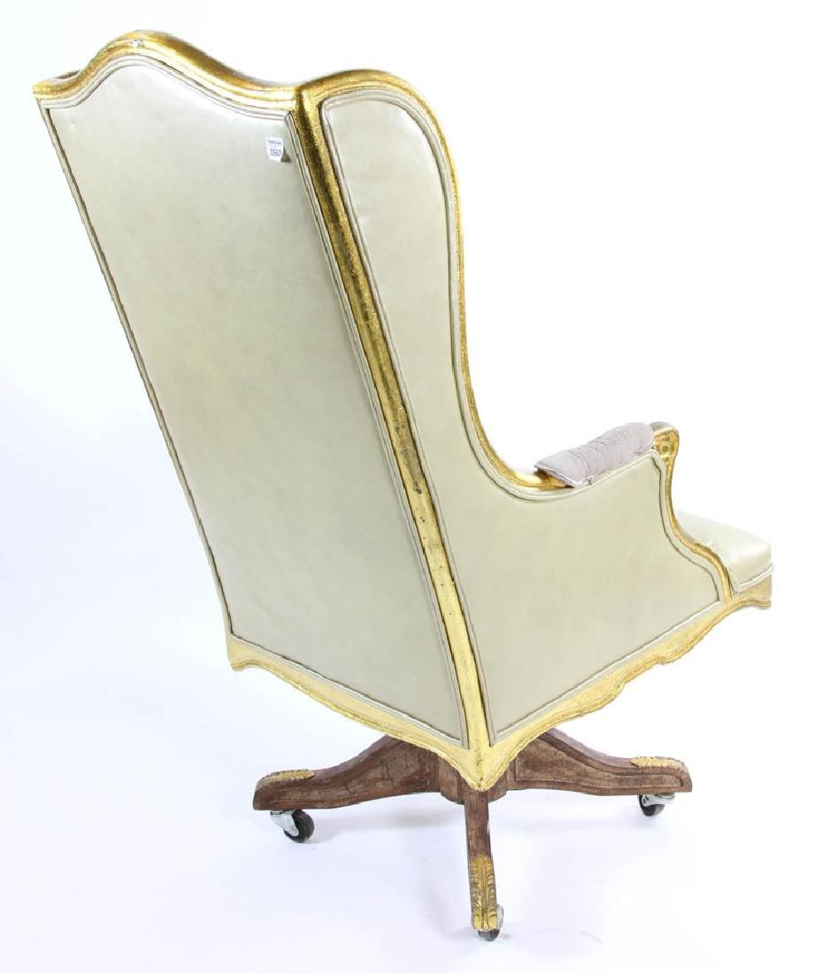 Fancy Leather Swivel Desk Chair - 3
