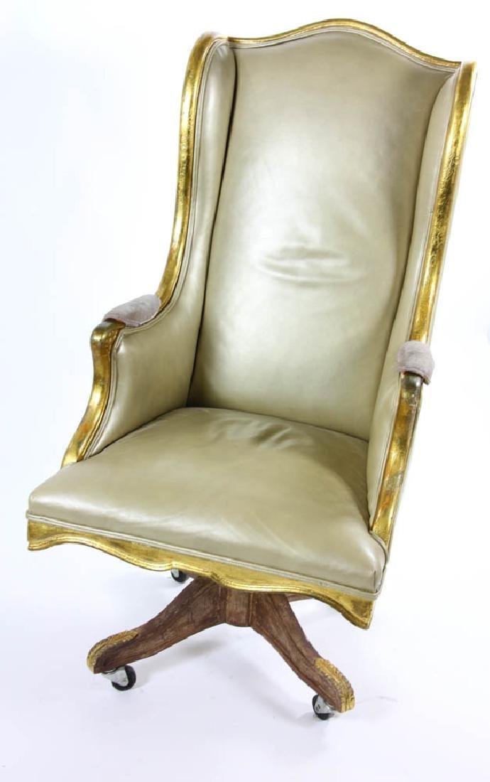 Fancy Leather Swivel Desk Chair - 5
