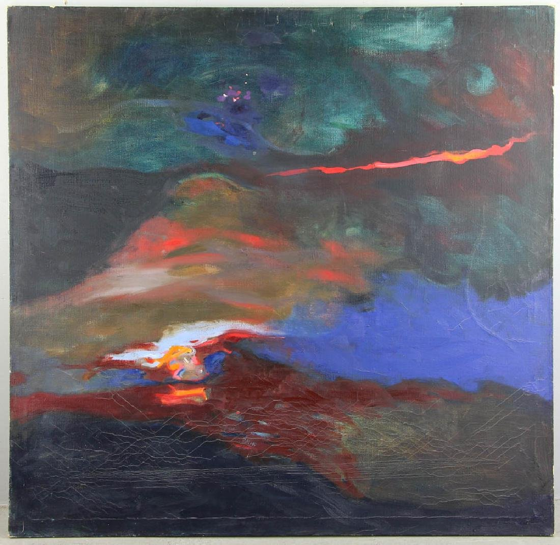 Howard Schafer, Abstract Oil on Canvas