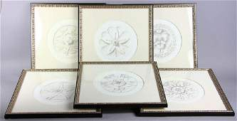 Set of Six French Style Framed Prints
