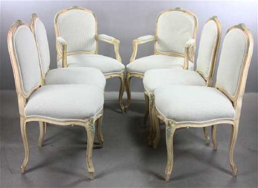 339af76c53f8a French Style Upholstered Dining Chairs