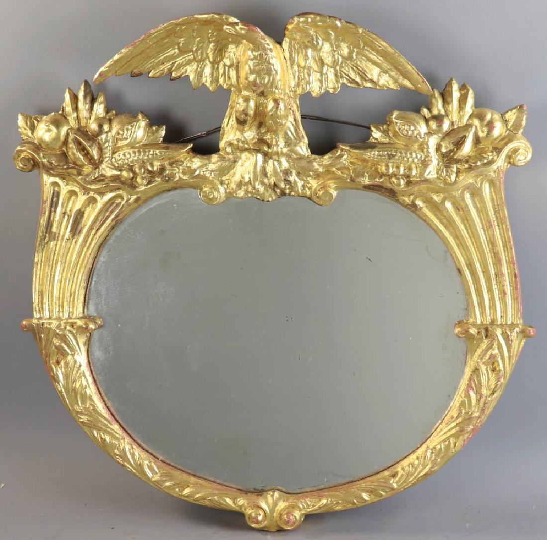 Late 19thC Federal Style Eagle Motif Mirror