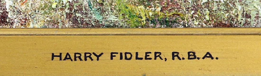 Harry Fidler, Horses Pulling Farmer, Oil on Canvas - 4