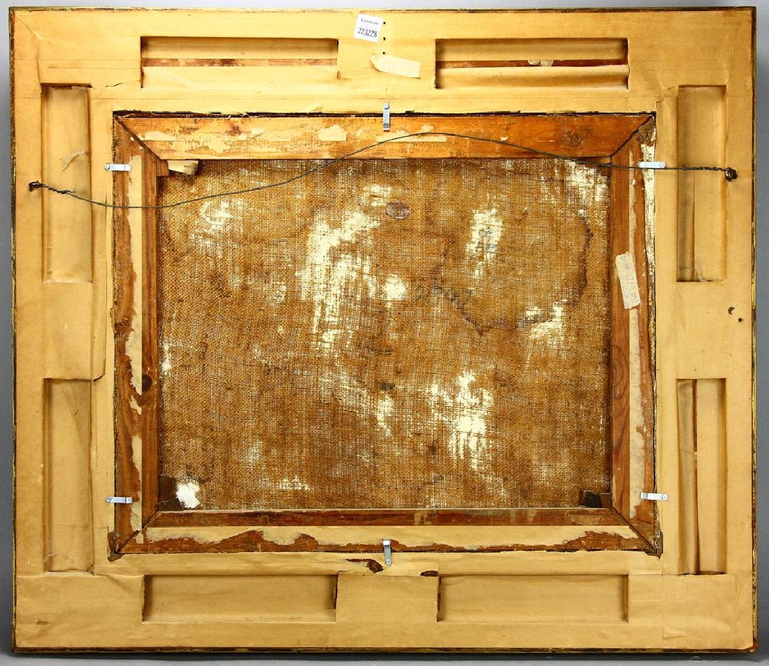 Harry Fidler, Horses Pulling Farmer, Oil on Canvas - 5