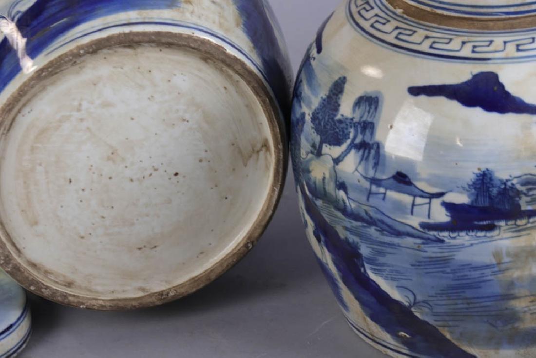 Pair of Chinese Porcelain Ginger Jars - 7